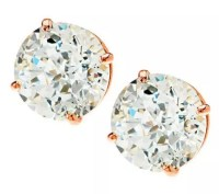 Diamonique Simulated Diamond 14K Gold Stud Earrings - Page ...