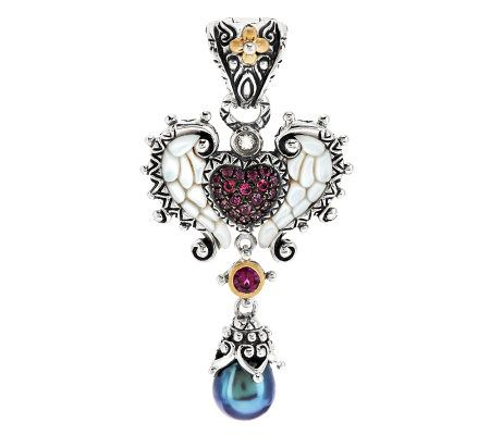 Barbara Bixby Sterling/18K Wing Heart Mother-of-Pearl