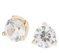 Diamonique 100-Facet 1 ct tw Stud Earrings 14K Gold - Page ...