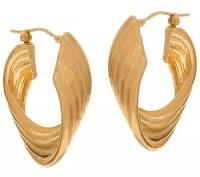 14k Gold Twisted Hoop Earrings Spectacular Deal On ...