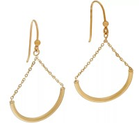 Italian Gold Polished Chain Drop Earrings 14K Gold - Page ...