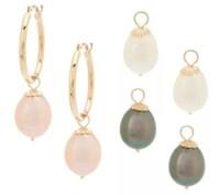 HonoraGold Cultured Pearl Interchangeable Hoop Earrings ...