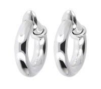 "UltraFine Silver 3/4"" Polished Clip-On Hoop Earrings  QVC.com"
