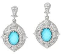 Judith Ripka Sterling 4.60 cttw Diamonique Earrings - Page ...