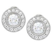 Judith Ripka Sterling 118 Facet Diamonique Stud Earrings ...