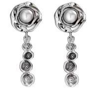 Hagit Gorali Sterling Bloom Cultured Pearl Dangle Earrings ...