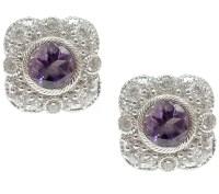 Judith Ripka Sterling Diamonique & Gemstone Stud Earrings ...