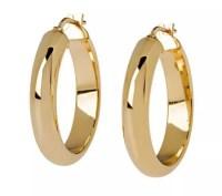 """Veronese 18K Clad 1"""" Wedding Band Hoop Earrings - Page 1 ..."""