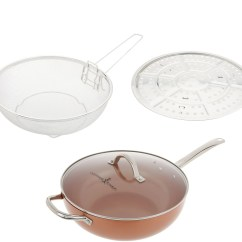 Qvc.com Shopping Kitchen Equipment Used Clearance Food Qvc Com Copper Chef 12 Super Skillet With Glass Lid And Accessories K47130