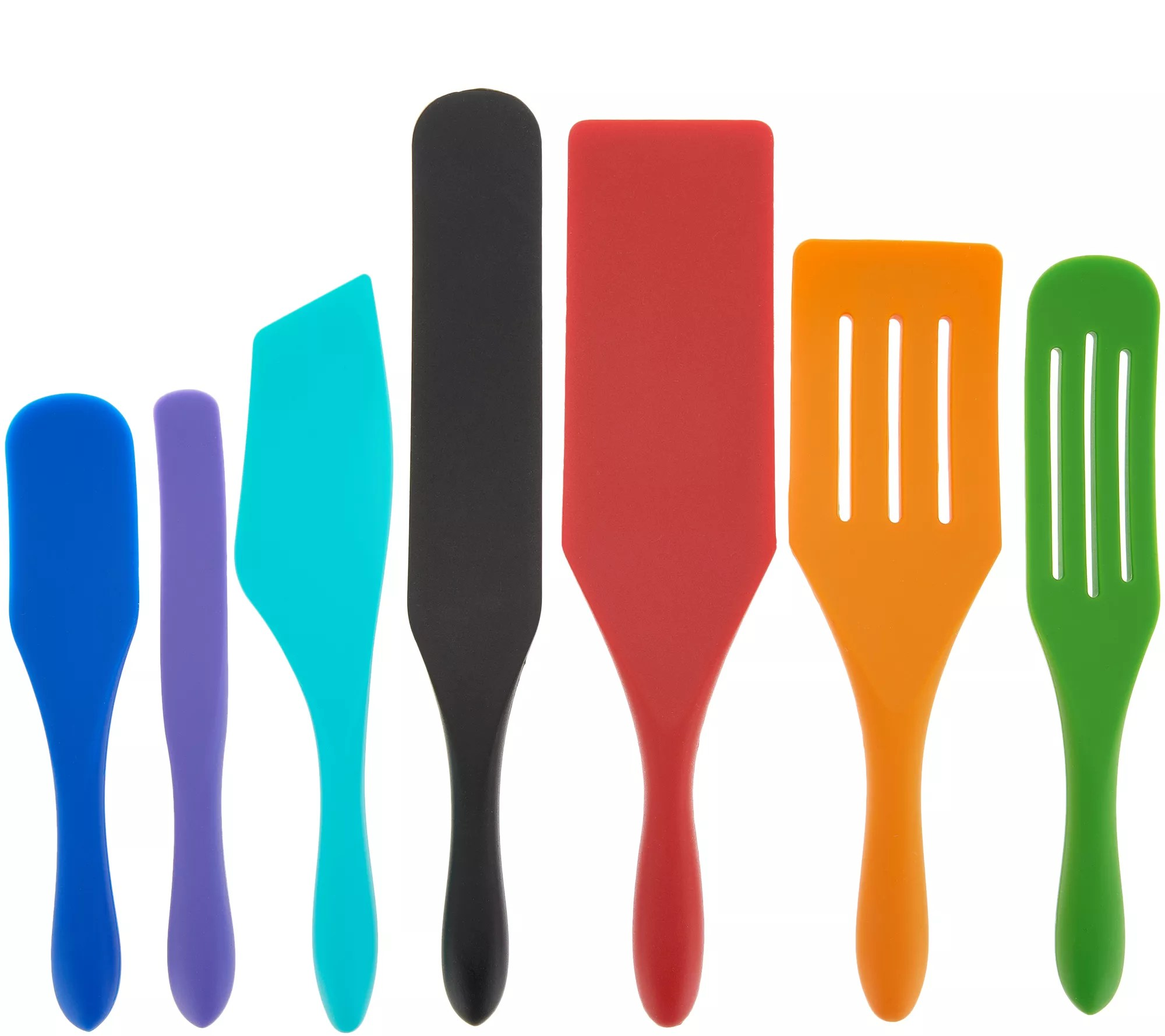qvc.com shopping kitchen aide appliances utensils tools qvc com mad hungry 7 piece multi use silicone spurtle set k47555