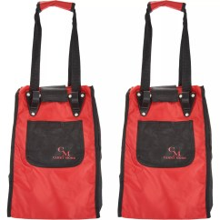 Qvc.com Shopping Kitchen Toy Sets Carrymore Food Qvc Com Set Of 2 Resuable Bags With Cart Clips K46282