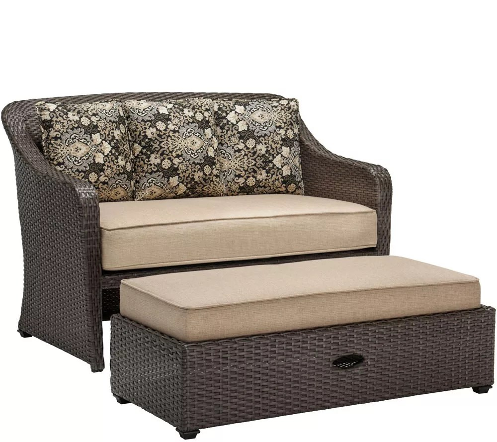chair and a half with storage ottoman outdoor for elderly hanover cuddle qvc com