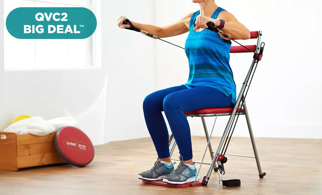 office chair qvc posture desk gym do jiaq win total body workout with 3 level resistance rh tvshoppingqueens com lazy boy chairs