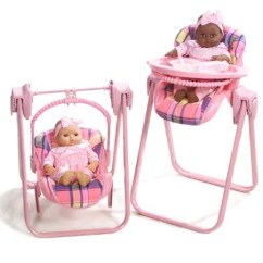 Baby Toy High Chair Set Knee Support Lissi Doll 3 In 1 Highchair W 14 Qvc Com