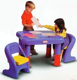 little tikes adjustable table and chairs backyard lounge 7749 set qvc com