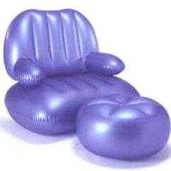 Intex Air Chair Cushions For Lawn Chairs Ottoman Set Pearlesent Blue Qvc Com In Stock