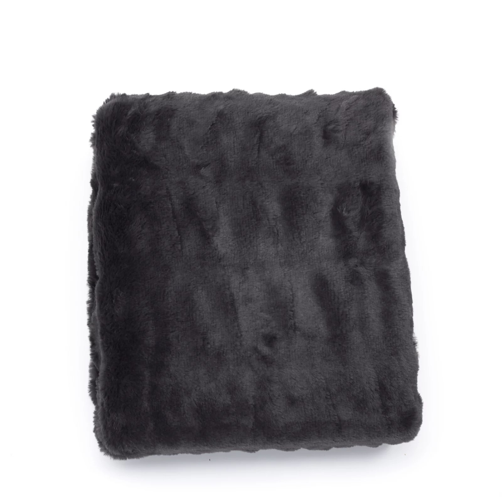 k by kelly hoppen ruched faux fur throw qvc uk