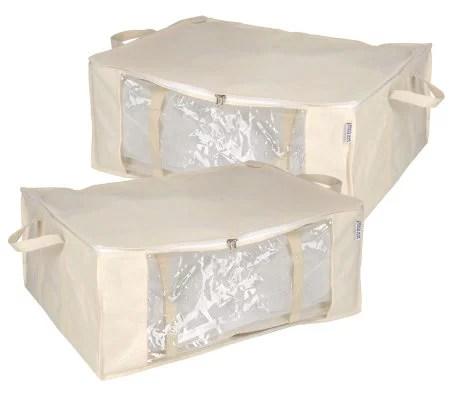 Space Bag Set of 2 Jumbo Stackable Vacuum Seal Storage