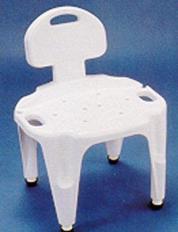 rubbermaid shower chair replacement parts desk toronto adjustable bath seat w back qvc com in stock