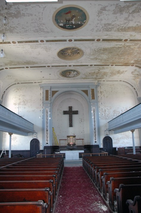 Emanuel Lutheran Church, Interior QVNA, 2009. Photograph by Al Dorof.