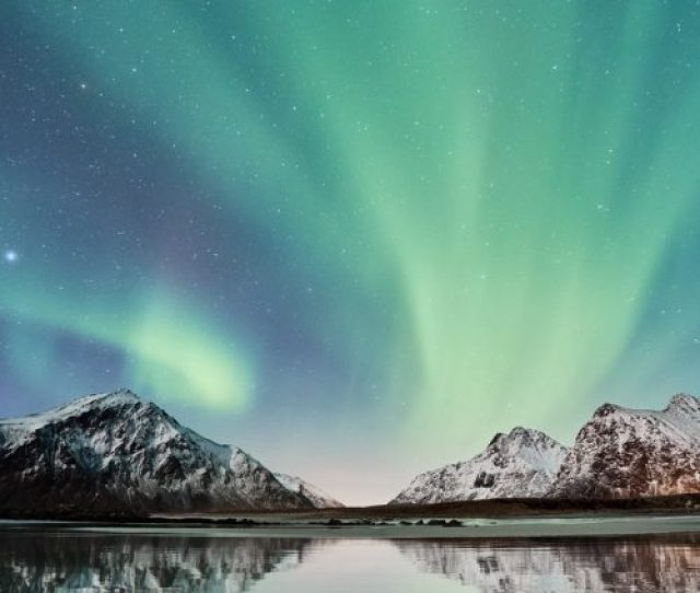 Nature Wallpaper For Mobile Phone With Picture Of Aurora Borealis