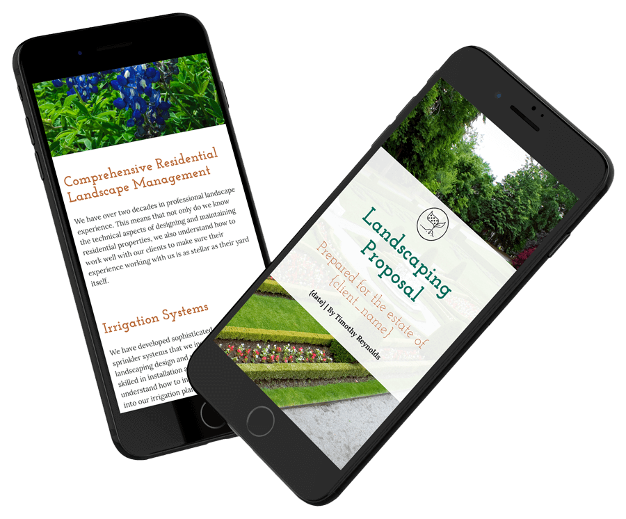 Landscaping Proposal Template Professionally Designed Proposal Qwilr