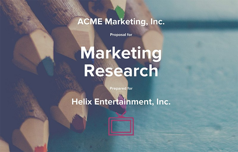 Marketing Research Proposal Template Qwilr