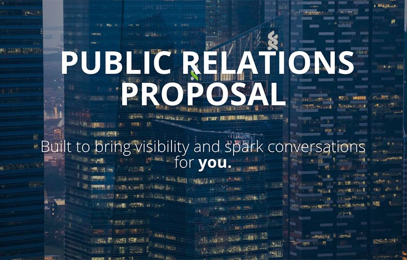 Public Relations Proposal Template