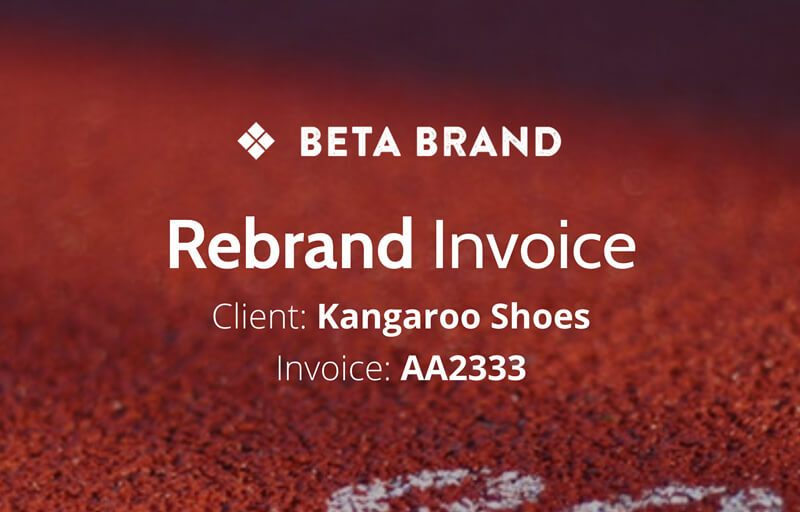 Branding Invoice Template