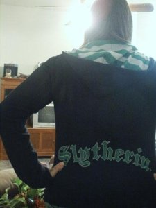 Me in a Slytherin Sweatshirt