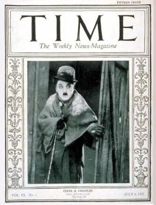 Photo of Charlie Chaplin Time Magazine 1925
