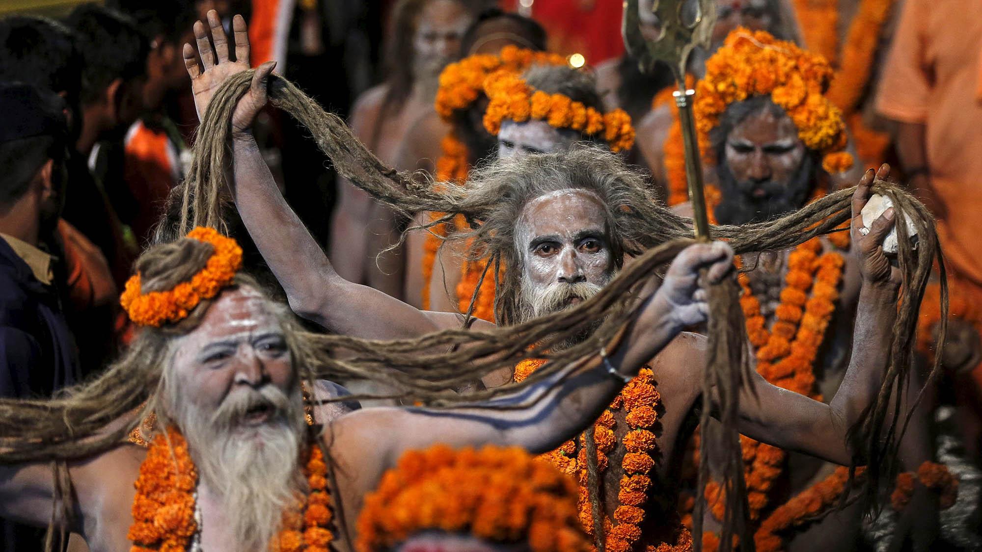 Kumbh Mela Stunning photos of Indias festival of naked saints  Quartz