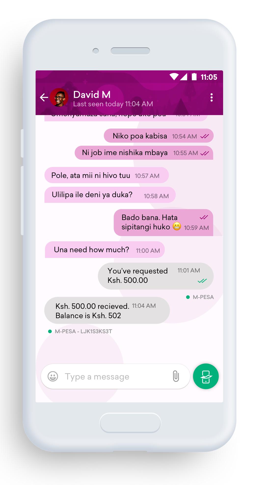 Bonga chat and money service