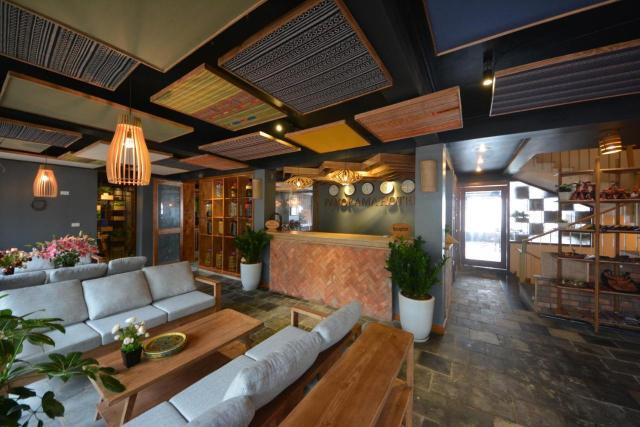 The lobby or reception area at Sapa Panorama Hotel