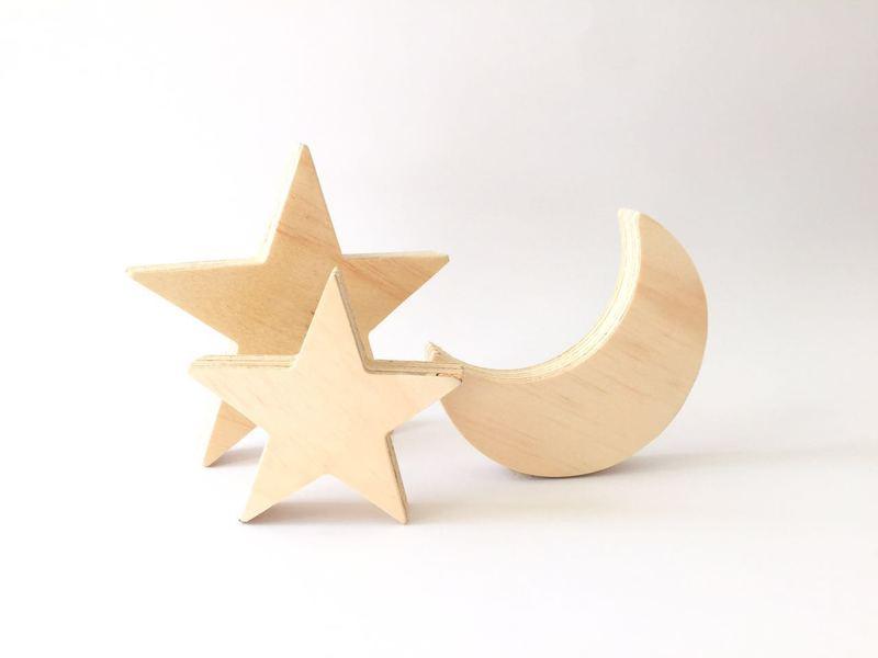 Luna con 3 estrellas  Olinal