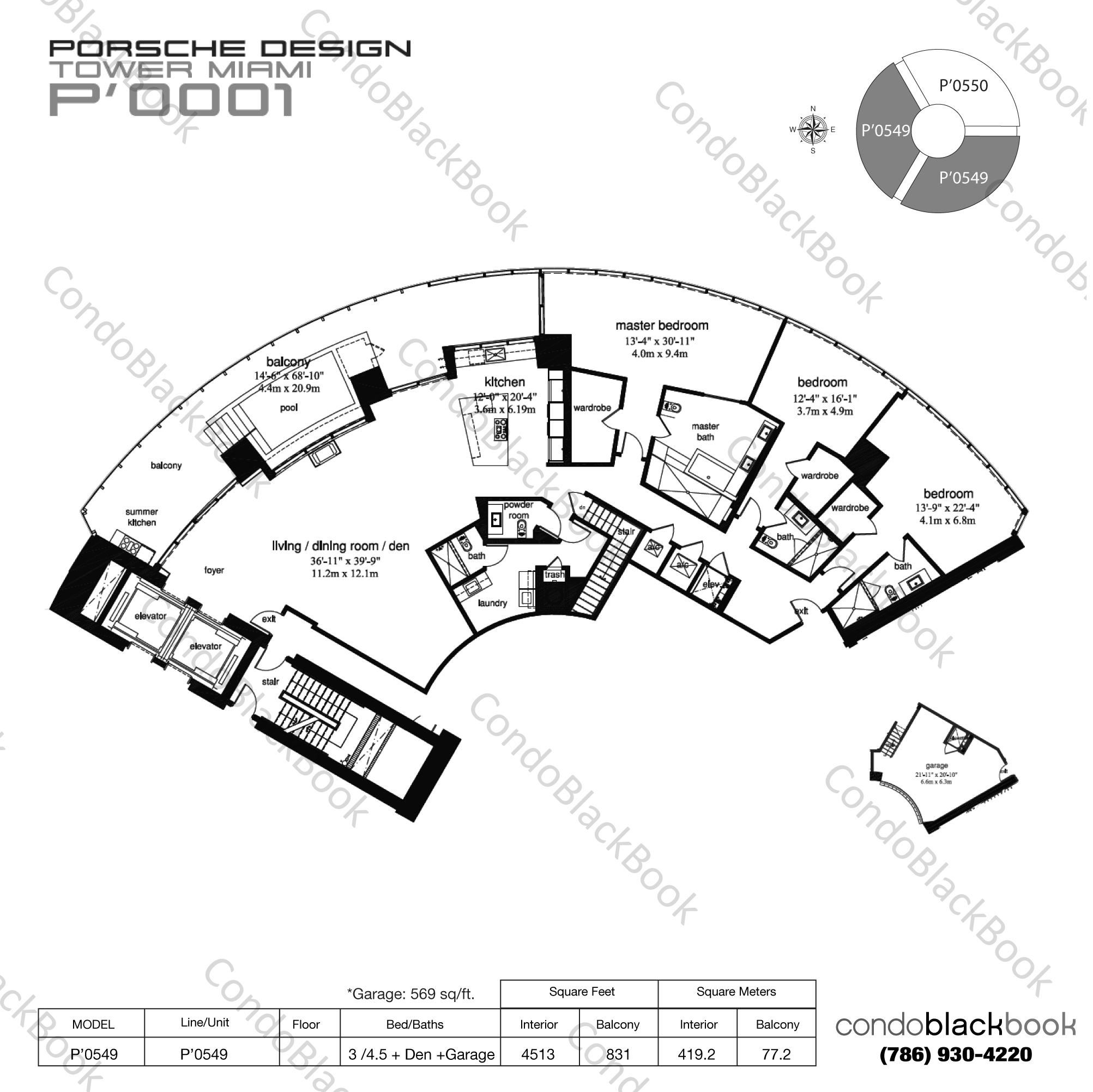 Porsche Design Tower Unit #3901 Condo for Sale in Sunny
