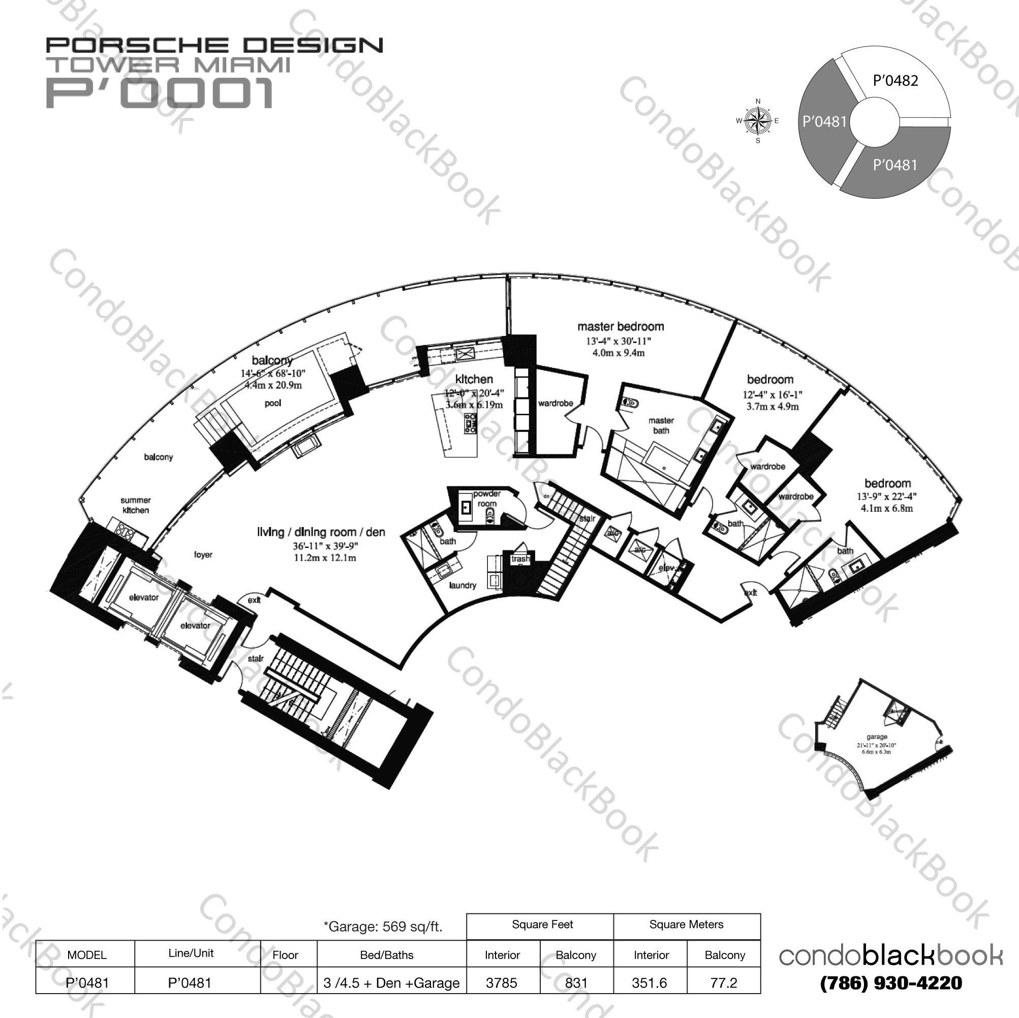 Porsche Design Tower Unit #1505 Condo for Rent in Sunny