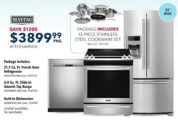 best buy kitchen appliances outdoor cart maytag appliance package redflagdeals com 3899 99 1200 00 off