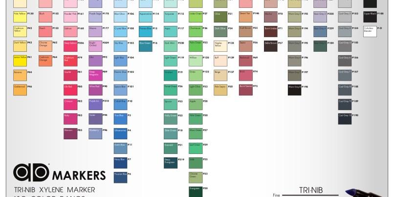 Prismacolor Marker Color Chart