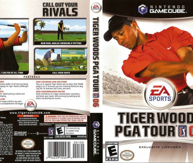 Tiger Woods Pga Tour 06 Europe Enfrde Cover