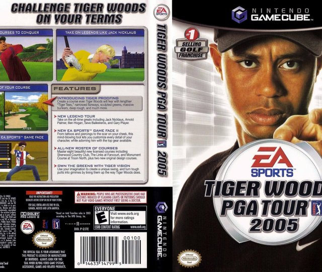 Tiger Woods Pga Tour  Cover Click For Full Size Image