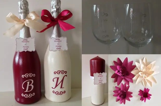 Hiasan botol perkahwinan