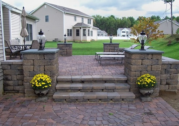 moderne Patio-Ideen Pflastermuster
