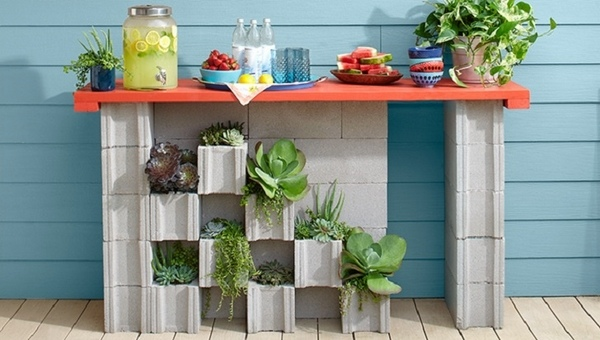 cinder-block-garden-ideas-serving-station-DIY-deck-patio-möbel-ideas
