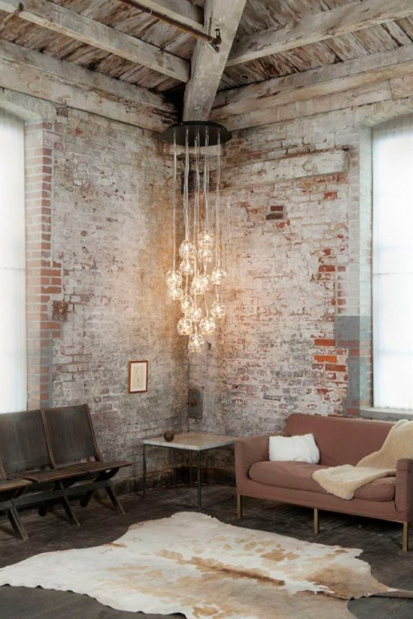 how-to-whitewash-without-brick-Loft-Wohnungsdesign Ideen Industriedesign