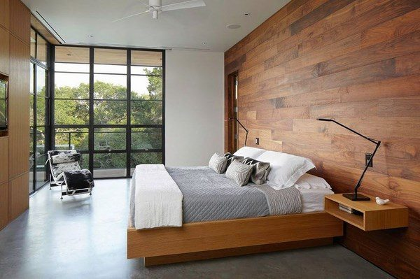 how-to-sound-dproof-a-bedroom-ideas Schlafzimmer Wandverkleidung Holzwand