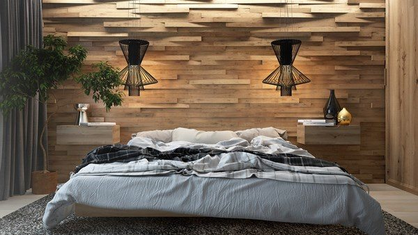 how-to-soundproof-a-bedroom-wald-mit-Textur-Holz-Wandpaneelen