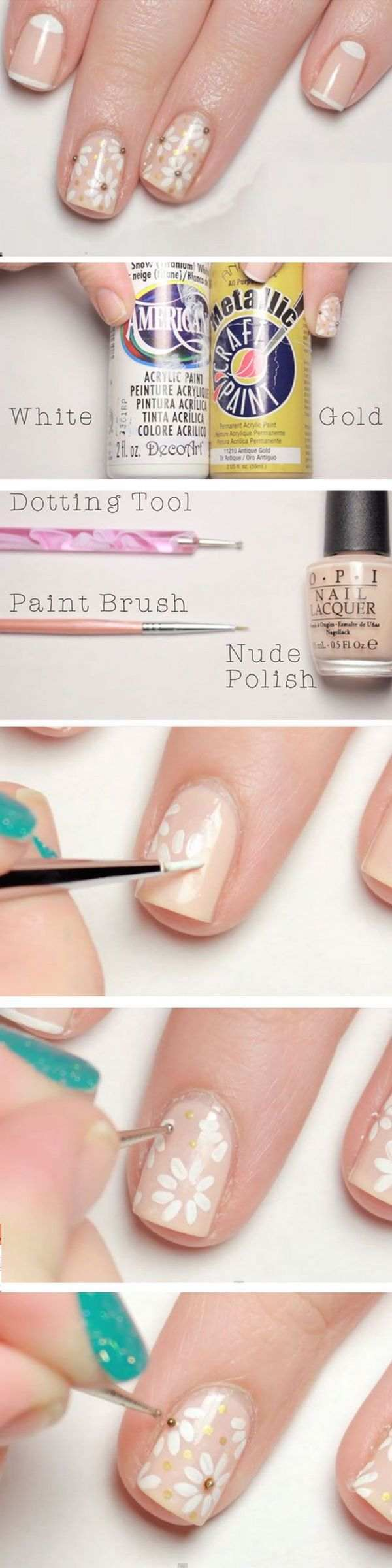 DIY-Nageldesigns einfache Nageldekorationsideen