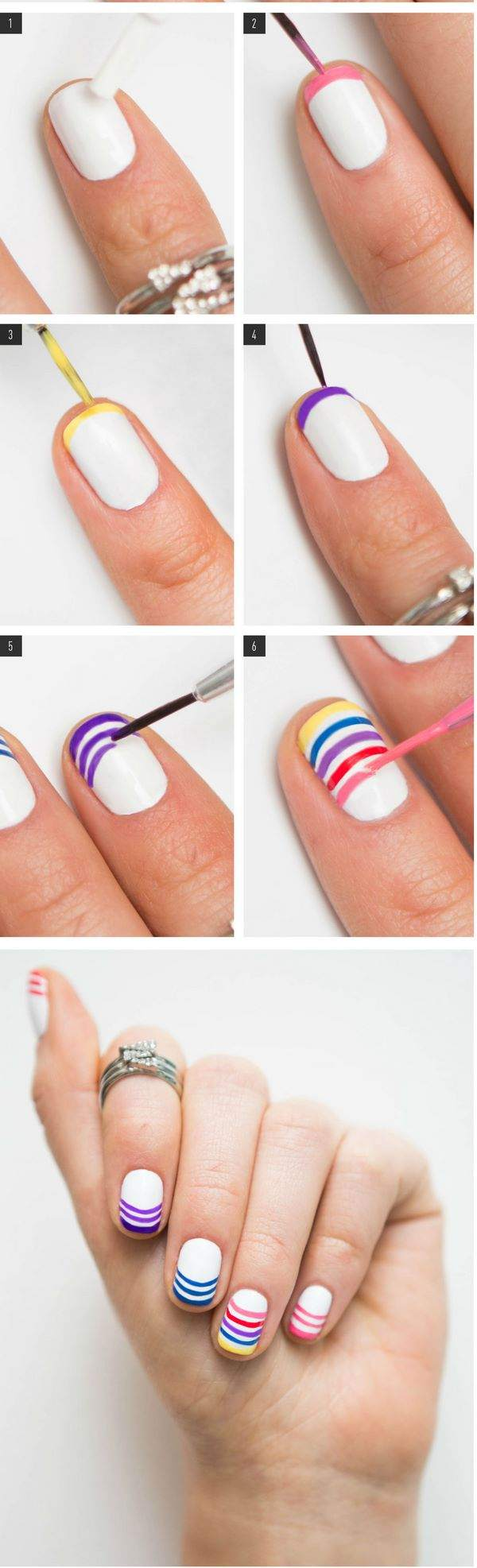 Tutorial zum Regenbogen-Nageldesign