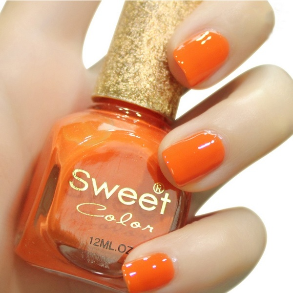 orange Nagelfarbe Sommer-Nägel Ideen